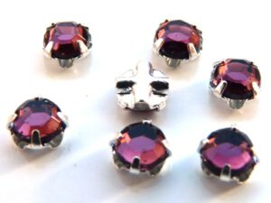 SS20-20050-Silver Extra Chaton Rose Montees Amethyst Silver 15 Pc.-0