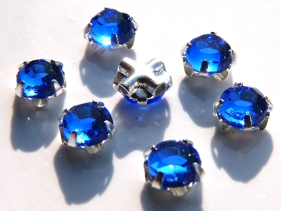 SS20-30050-Silver Extra Chaton Rose Montees Sapphire Silver 15 Pc.-0