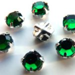 SS20-50730-Silver Extra Chaton Rose Montees Emerald Silver 15 Pc.-0