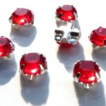 SS20-90070-Silver Extra Chaton Rose Montees Light Siam Red Silver 15 Pc.-0