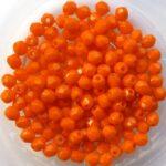 0060109 Opaque Orange Facet 3 mm. 75 Pc.-0