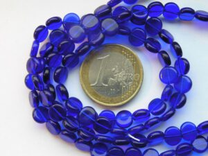 0090010 Cobalt Blue rond schijfje 60 Pc-0
