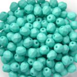 0100353 Saturated Mint (Teal)  Facet 4 mm. 50 Pc.-0