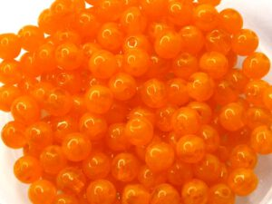 04-R-81250 Milky Orange ( Opal) Round 4 mm. 100 Pc.-0