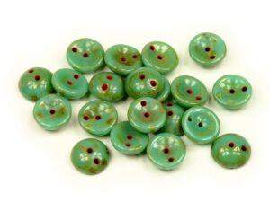PGY-63120-86800 Opaque Turquoise Travertin Piggy Bead 50 Pc.-0
