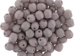 0020268 Saturated Sand (Mushroom) Facet 6 mm. 25 Pc.-0