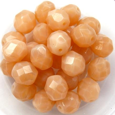 0070322 Milky Apricot Facet 8 mm. 10 Pc.-0