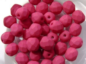 0070399 Saturated Fuchsia Facet 6 mm. 25 Pc.-0