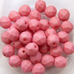 0070425 Saturated Pink Facet 6 mm. 25 Pc.-0