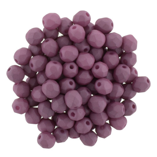 0080595 Saturated Hyacinth Violet Facet 4 mm. 50 Pc.-0