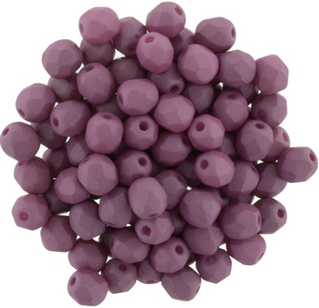 0080596 Saturated Hyacinth Violet Facet 6 mm. 25 Pc.-0