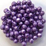 0080598 Metallic Suede Purple Facet 4 mm. 50 Pc.-0