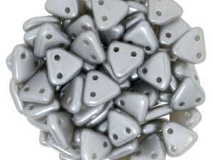 CMTR-25028 CzechMates Triangle Pearl Coat Grey/Silver, 10 gram-0