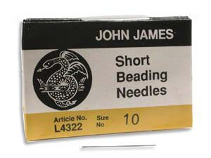 BN10SHRT John James Beading Needle Short #10, 25 stuks-0