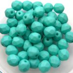 0100354 Saturated Mint ( Teal) facet 6 mm. 25 Pc.-0