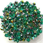 0100385 Emerald Vitrail Facet 3 mm. 75 Pc.-0