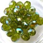 0100440 Olivine AB Facet 8 mm. 15 Pc.-0