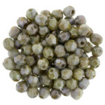 0100468 Lustered Marble Green Facet 3 mm.-0