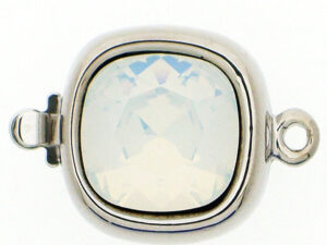 14821-01-06-234 Rhodium Claspgarten Clasp with White Opal-0