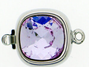 14821-01-06-371 Rhodium Claspgarten Clasp with Violet-0