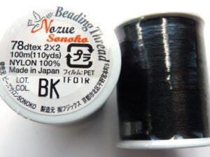 NS78BK Nozue Sonoko Beading Thread Black-0