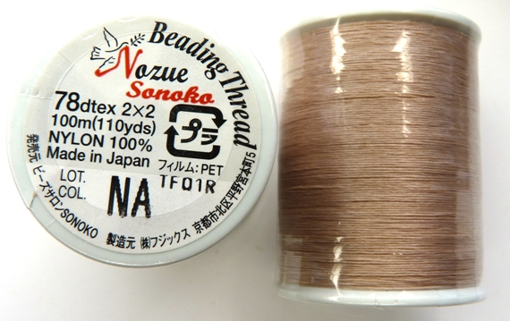 NS78NA Nozue Sonoko Beading Thread Beige ( Natural)-0