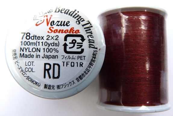 NS78RD Nozue Sonoko Beading Thread Red-0