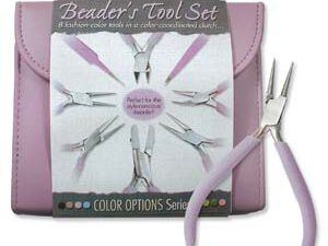 PLFAS03 Beadsmith Pastel Orchid Beaders Tool Set in Clutch-0