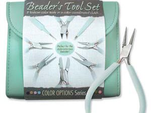 PLFAS05 Beadsmith Pastel Aqua Beaders Tool Set in Clutch.-0