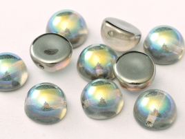 DO-ES-00030-98537 Dome Beads Crystal Graphite Rainbow 8 Pc.-0