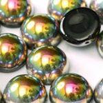 DO-ES-23980-28101 Dome Beads Jet Vitrail 8 Pc.-0