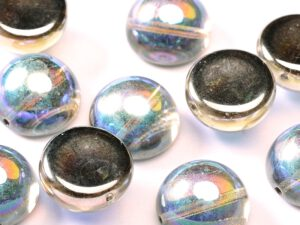 DO-B-00030-98537 Dome Beads Crystal Graphite Rainbow 8 Pc.-0