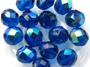 0090359 Capri Blue AB Facet 8 mm. 15 Pc.-0