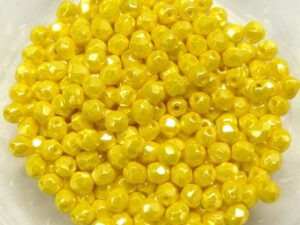 0130116 Opaque Yellow Hematite Facet 3 mm. 65 Pc.-0