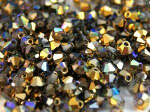 03-MC-00010-98536 Crystal Golden Rainbow Bicone 3 mm. 50 Pc.-0