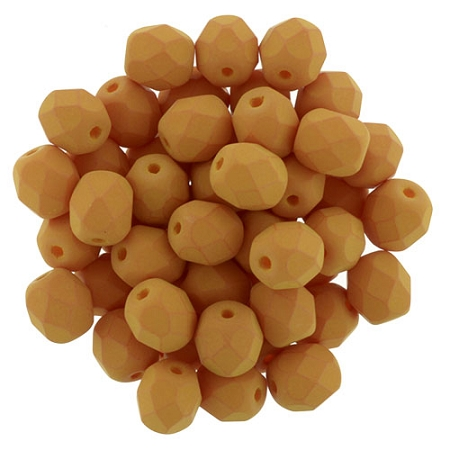 0130126 Saturated Pumpkin facet 6 mm. 25 Pc.-0