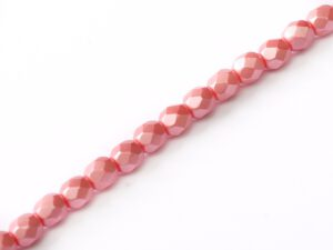 FP-04-02010-25007 Pastel Light Coral Pearl facet 4 mm. 50 Pc.-0
