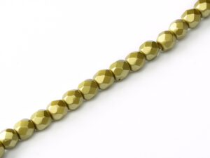 FP-03-02010-25021 Pastel Lime Pearl facet 3 mm. 50 Pc.-0