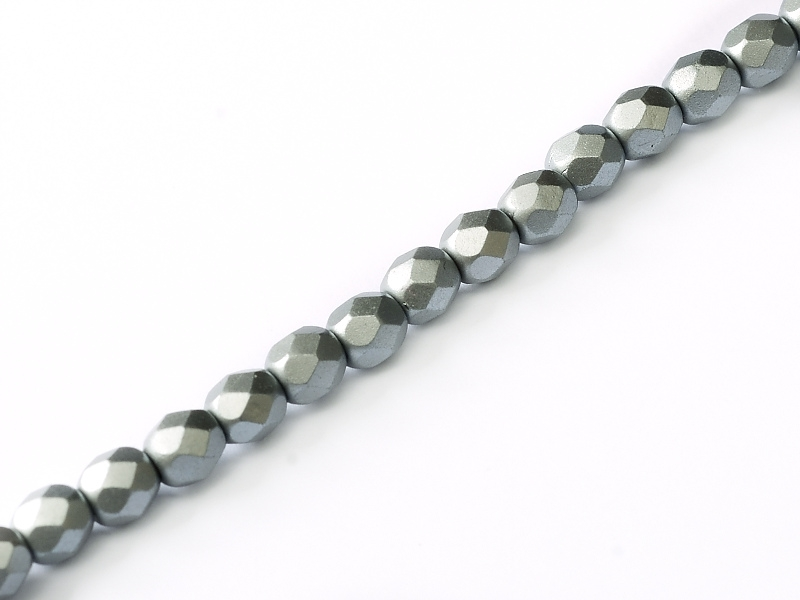 FP-04-02010-25028 Pastel Light Grey/Silver Pearl facet 4 mm. 50 Pc.-0