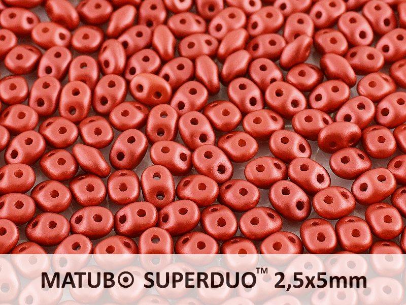 SD-02010-29408 SuperDuo Metallic Mat Red 10 gram-0
