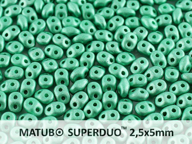 SD-02010-29455 Superduo Metallic Mat Green Turquoise 10 gram-0