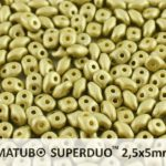 SD-02010-29482 Superduo Metallic Mat Olivine 10 gram-0