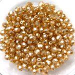 0040237 Golden Glasparel Facet 3 mm. 50 Pc.-0