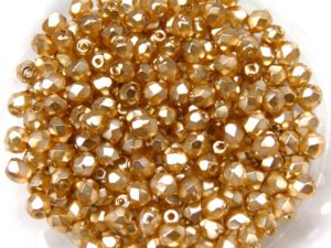 0040237 Golden Glasparel Facet 3 mm. 50 Pc.-0