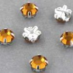 SS20-10070-Silver Extra Chaton Rose Montees Topaz Silver 15 Pc.-0