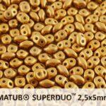 SD-02010-29415 Superduo Metallic Mat Bronze 10 gram-0