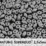 SD-02010-29566 Superduo Silk Mat Opaque Grey 10 graam-0