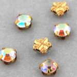SS20-00030-28701-Gold Extra Chaton Rose Montees Crystal AB Gold 15 Pc.-0