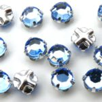 SS20-30020-Silver Extra Chaton Rose Montees Light Sapphire Silver 15 Pc.-0