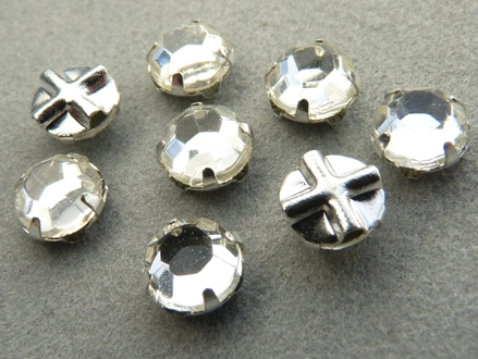 SS30-00030-Slv Extra Chaton Rose Montees Crystal Silver 8 Pc.-0